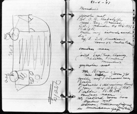 In seinem Notizbuch skizzierte Ben Pon einen Autotypen, den es bislang auf der Welt noch nicht gab.